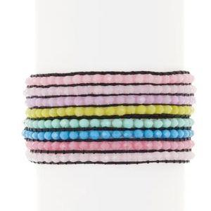AYOUNIK Crytal Beaded Adjustable Bracelet Set